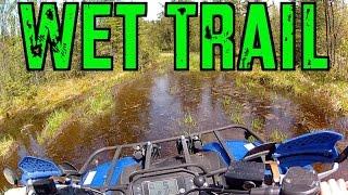 8. Yamaha Grizzly And Kodiak  Explore The Wet ATV Trail Into Nasen Lake -  June 1 2014