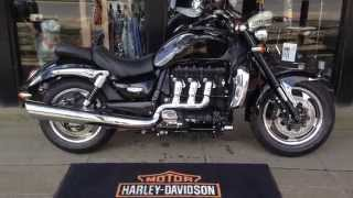 8. 2010 BLACK TRIUMPH ROCKET III 3 ROADSTER @ West Coast Harley-Davidson, Glasgow, Scotland