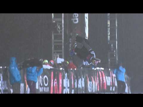 Greg Bretz - Greg Bretz qualifies first in the Snowboard Men's Superpipe Elims.