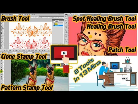 Adobe Photoshop Tutorial : Brush Tool, Clone Stamp And Healing Brush Patch Tool For Beginners - 03