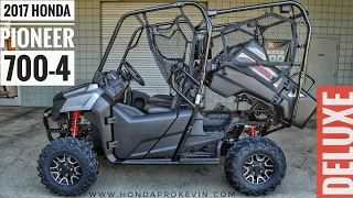 6. 2017 Honda Pioneer 700-4 Deluxe Walk-Around Video | Matte Silver | Review @ HondaProKevin.com