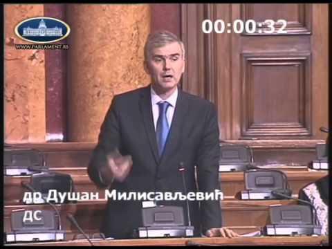 Душан Милисављевић у Скупштини Србије о амандманима на Зојин закон