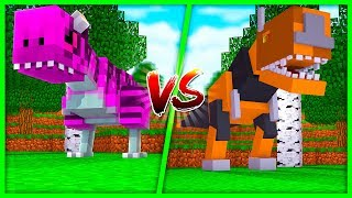 BOY VS GIRL LITTLE KELLY VS TINY TURTLE DINO CHALLENGE - Minecraft