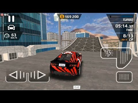 "Smash Car Hit - Impossible Stunt ""Red Sparrow"" Speed Car Games - Android gameplay FHD #2"