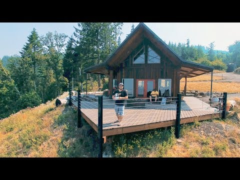 I visit a cool cabin/winery in Oregon