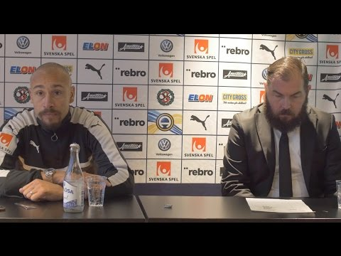Presskonferens med Axén och Henke Larsson
