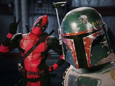 Deadpool vs Boba Fett.  Epic Rap Battles of History - Bonus Battle! (видео)
