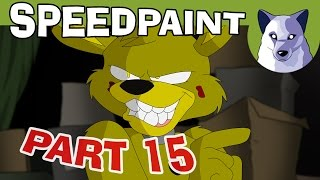 """Do you make cartoons? Drawings? Are you an animation enthusiast? Take a look here and join the Channel Frederator Network! Join Frederator ►https://dashboard.frederator.com/apply/frederator?aggregatorKey=tonyHellooo, guys! Here is the proof that Part 15 is in fact proceeding! X3 I've been working on this episode for three months now, and finally the main animations are finished. Now I """"just"""" need to colour the frames and be sure that I didn't commit too many mistakes! ^^'Yes, this part is going to be pretty different from the others, it's mostly animated frame by frame, and it's going to be a bit longer than usual. I really hope you'll like it! ^^For this preview I decided to complete one single scene (from sketch to colours to editing) and to make a Speedpaint video out of it! It's basically Springy telling the first line of the episode, and it lasts about 3 seconds. That means 5 hours of work! XDLaphin Hyena provides once again the voice for Springtrap, and he sounds as evil as ever! :D Thanks a lot, Laphin!Take a look at his channel:http://bit.ly/CharacterVoiceAnd watch him on Twitch too:https://www.twitch.tv/laphinThank you so much for subscribing, guys! You're more than 1'041'000 now, and I get shivers under my skin if I think about it! Thank you SO much! ^O^If you're not subscribed yet, what about following this link? :3http://bit.ly/21hjVHzHey! You might also follow me at these links!Facebook ► http://www.facebook.com/TonyCrynightOfficial My Twitter ► http://twitter.com/TonyCrynight My Tumblr ►http://tonycrynight.tumblr.com My DeviantArt ► http://tonycrynight.deviantart.com Very special thanks to our patrons, of course, the ones who are directly helping to keep alive this project! Thank you, thanks a HUGE lot!! ^w^To support me and my collaborators, take a look at my Patreon here! ;)Patreon ► http://bit.ly/1R0Ae5FWell, let me know what you think about this preview! And before you ask, I really hope to finish Part 15 towards the end of this month! Colouring, b"""