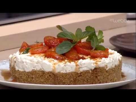 Cheesecake με Ντάκο & καραμελωμένα ντοματίνια | 25/05/2020 | ΕΡΤ