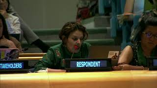 Sarah Zaman's Intervention at HLPF 2019: http://webtv.un.org