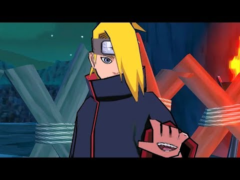 NARUTO: ULTIMATE NINJA IMPACT Gameplay Walkthrough Part 5 (PSP) - DEIDARA INVADES THE SAND VILLAGE!