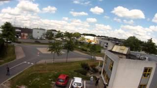 Petit essai en vol du Sky Héro X6/X12 Pancake filmer par mon drone Dji Phantom V1.1.1 et par l'intermédiaire d'une caméra GoPro
