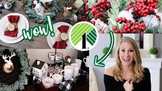 *NEW* DOLLAR TREE Christmas DIYS that look super expensive!  (Pottery Barn inspired!)