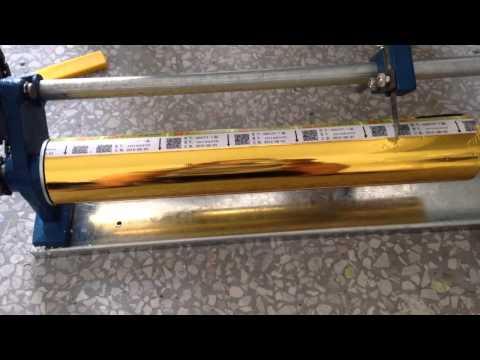 manual foil cutter operation video