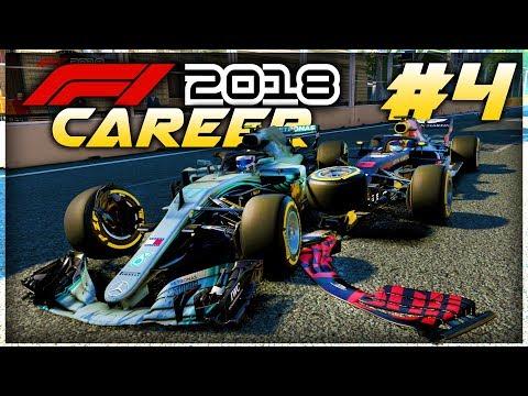 F1 2018 Career Mode Part 4: CHAOS AT BAKU! CRASHES! FREAK RESULTS! (видео)