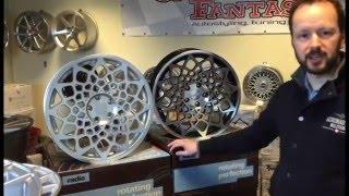 radi8 b12 Wheels, Silver matt and Black front polish