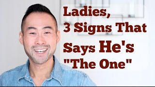 "Ladies, here are 3 key signs that answers the question ""Is he the right man for me?"" ""is he the one for me?"" or ""Is he marriage material?"" If the answer is yes, then GREAT! And if not, well life is only going to get better from this point on!My Website: http://www.101mentoring.com/My Products and Services:http://www.101mentoring.com/productsandservicesGrab a free copy of my ebook, The Unfair Advantage:http://www.101mentoring.com/ebook/unfairadvantageAsk me a question and I'll answer it in a future video:http://www.101mentoring.com/askyourquestionLadies, are you wondering if the man you're currently with is the man for you? Do you have that funny feeling in your stomach that screams YES or one that says ""hmmm... what else is out there?"" Or maybe, there's absolutely no feeling whatsoever..Now if you haven't yet, be sure to check out my other video where i tell the men out there the 3 key signs they have to look out for in a future wife.  And it was only fair that i make a video to women.  If you want the inside scoop ladies, be sure to watch that video. AND if you happen to be a guy reading this in the hopes of wooing your current girl into a life-long partnership, you HAVE TO WATCH THIS VIDEO.So in today's video, I talk about:- The two very important pre-requisites before sizing up your current man against these 3 signs- The 3 key signs every woman must look out for to determine if your man is marriage material- Why dating different ""types"" of men doesn't matter- For the men that nail these 3 signs, there is no competition for him."
