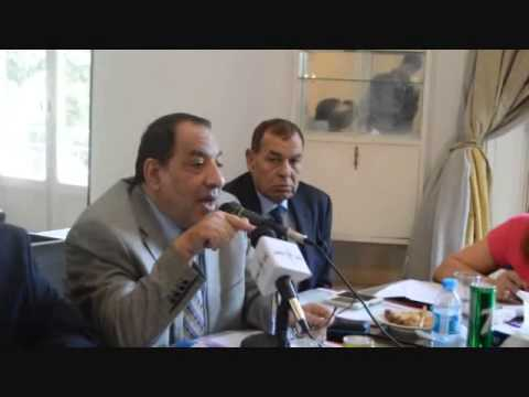 خالد ابوكريشة خلال اجتماع اتحاد المحامين العرب 26 يوليو