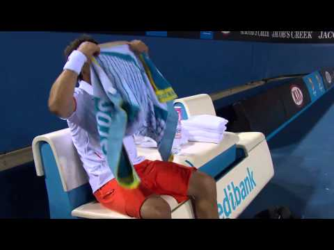 Marcos Baghdatis destroys FOUR rackets!