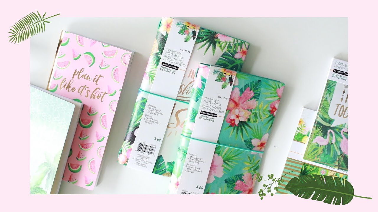 Michaels Tropical Life Traveler's Notebook + 2,500 SUBSCRIBERS GIVEAWAY