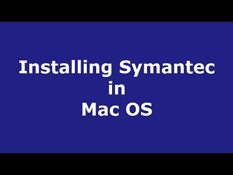 Installing Symantec in Mac OS
