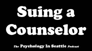 Dr. Kirk Honda talks with Bob Goettle about a counselor who got sued successfully. The Psychology In Seattle Podcast. July 12, 2017.Email: Contact@PsychologyInSeattle.comBecome a patron of our podcast by going to https://www.patreon.com/PsychologyInSeattle