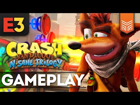 CRASH BANDICOOT NO XBOX ONE: GAMEPLAY EXCLUSIVO