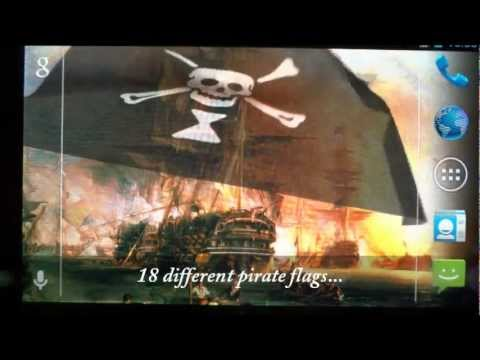 Video of Pirate Flag Live Wallpaper