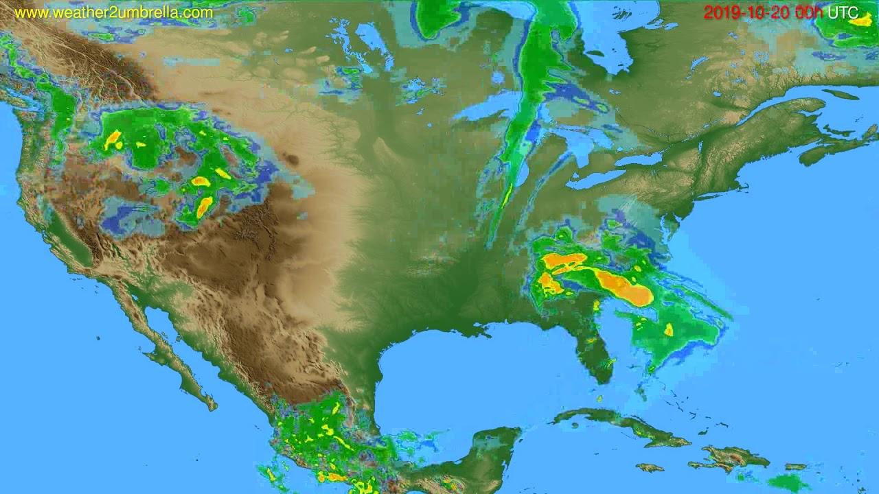 Radar forecast USA & Canada // modelrun: 12h UTC 2019-10-19