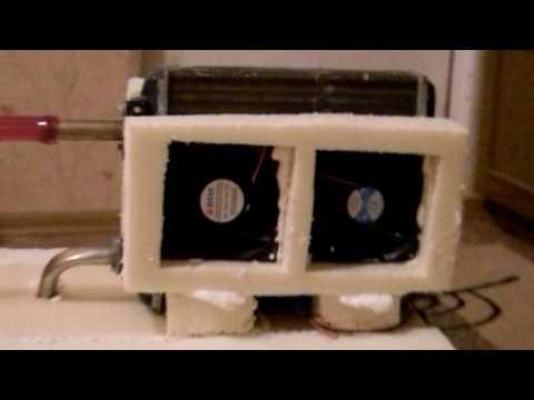 Кондиционер из радиатора с проточной водой своими руками