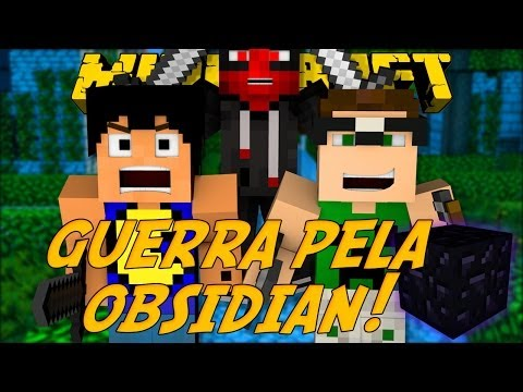 Minecraft: GUERRA PELA OBSIDIAN (Mini-Game Novo)