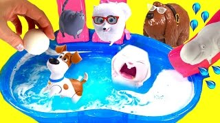 The Secret Life of Pets Dive for Toy Surprises in Bath Bomb Pool! Blind Bags & Mashems! full download video download mp3 download music download