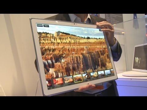 Panasonic's 4K Windows 8 Tablet  – CES 2013