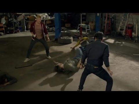 Cobra Kai Season 3 Johnny and Daniel vs Goons at Garage #Cobra #Kai