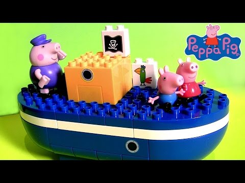 Video Lego O Barco do Vovô Pig Brinquedo de Blocos de Construir Peppa Pig | Barco del Abuelo Cerdito download in MP3, 3GP, MP4, WEBM, AVI, FLV January 2017