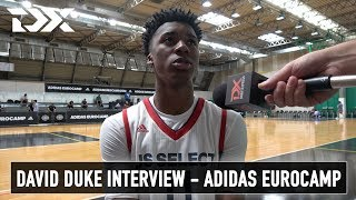 David Duke Interview - Adidas Eurocamp