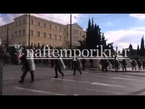 Επεισόδια στο περιθώριο της πορείας των ΓΣΕΕ – ΑΔΕΔΥ