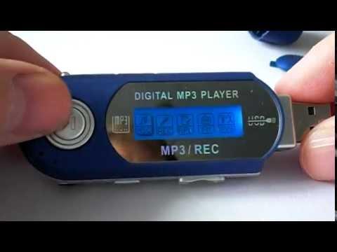 MP3 Player USB FM voice recorder. Меню .