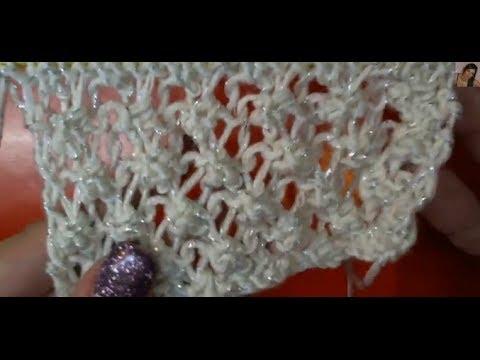 lavorazione a maglia - come eseguire il punto ragnatela ai ferri