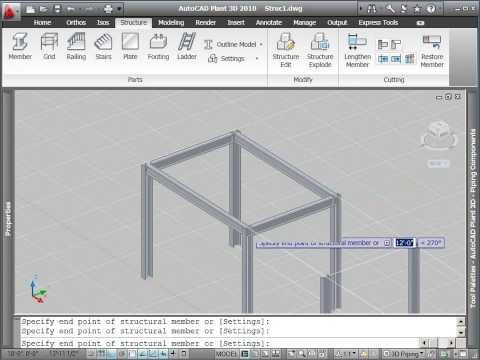 AutoCAD Plant 3D Tutorial: How To Create Structural Objects