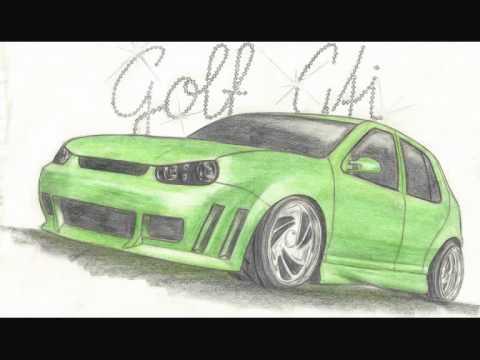 Zeichnungen v. Tuning Autos (Honda, Audi, VW…)