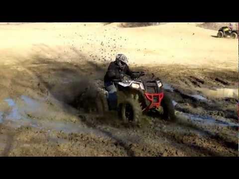 2013 Polaris scrambler Rippin through some mud
