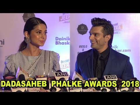 Jennifer Winget & Ex Husband Karan Singh Grover & At Dadasaheb Phalke Excellence Award 2018