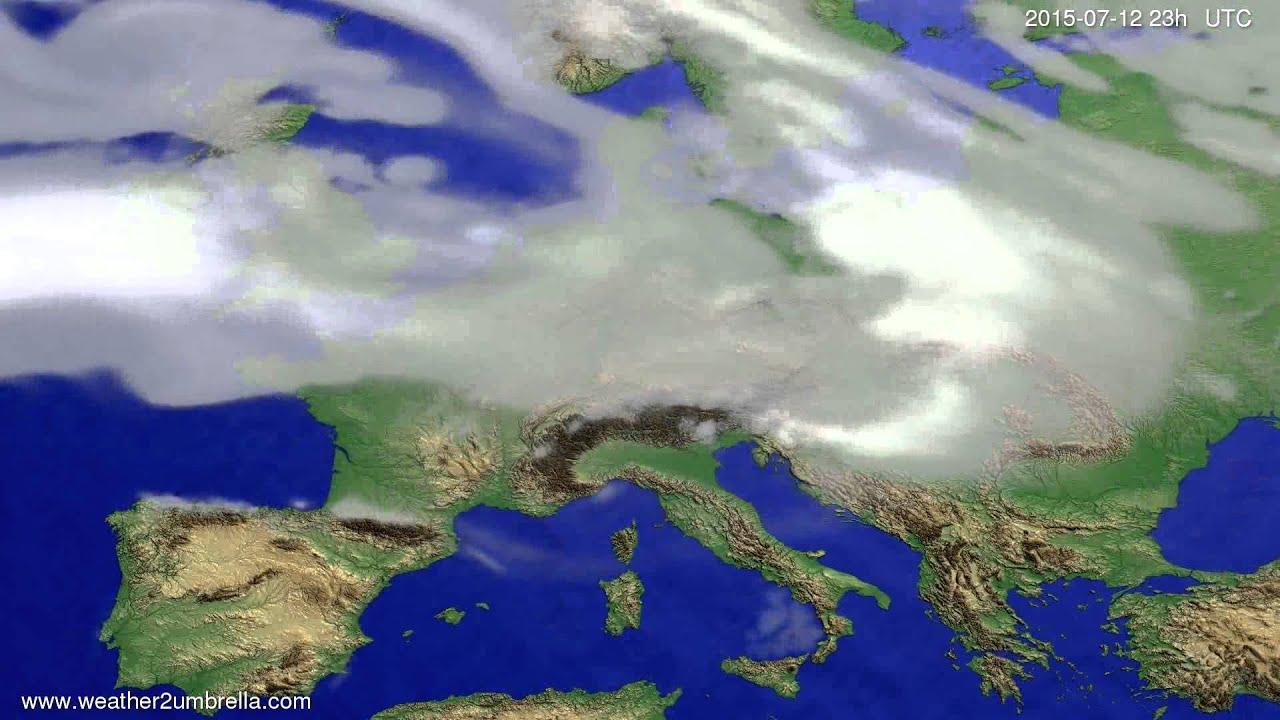 Cloud forecast Europe 2015-07-09