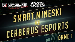 Mineski vs Cerberus, game 1