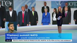 Třaskavý summit NATO