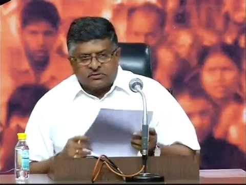Live : BJP Press Conference by Shri Ravi Shankar Prasad: 01 August, 2015