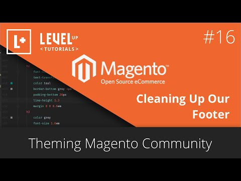 Magento Community Tutorials #40 – Theming Magento 16 – Cleaning Up Our Footer