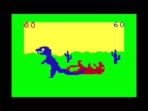 Dino Wars for the TRS-80 CoCo