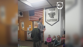 """Students shouted """"you look like a cancer patient"""" to eleven-year-old Jackson Johnson after he shaved his head in support of his grandpa Rick, so one man decided to step up. After Jackson's mum informed principal Tim Hadley about the cruel taunts, he gathered all the pupils and gave a heartwarming speech about why cancer-related things aren't to be laughed at. If that wasn't enough, he even sat down and allowed Jackson to shave his head as a sign of solidarity. Since then, a couple of students from the Pekin Middle School also went bald to show support.(By Paula Pollock: goo.gl/WtHCJ8)---------------------Leave a comment below. We would like to hear what you thinkLove art and design videos? Subscribe to our channel:https://www.youtube.com/channel/UCnciA_RZVjq9DMvx1KB625Q?sub_confirmation=1For more art and design news, like us on Facebook:https://www.facebook.com/BoredPandaArt"""